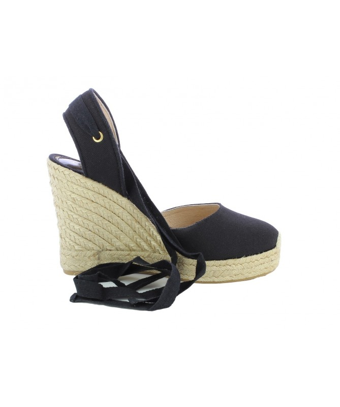 Espadrille Bloc with bootlace