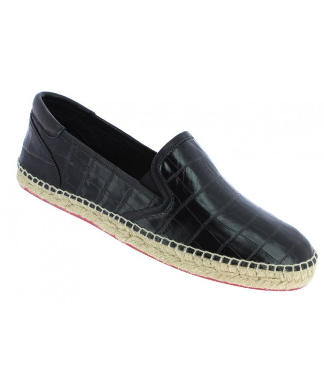 Slippers men Croco black