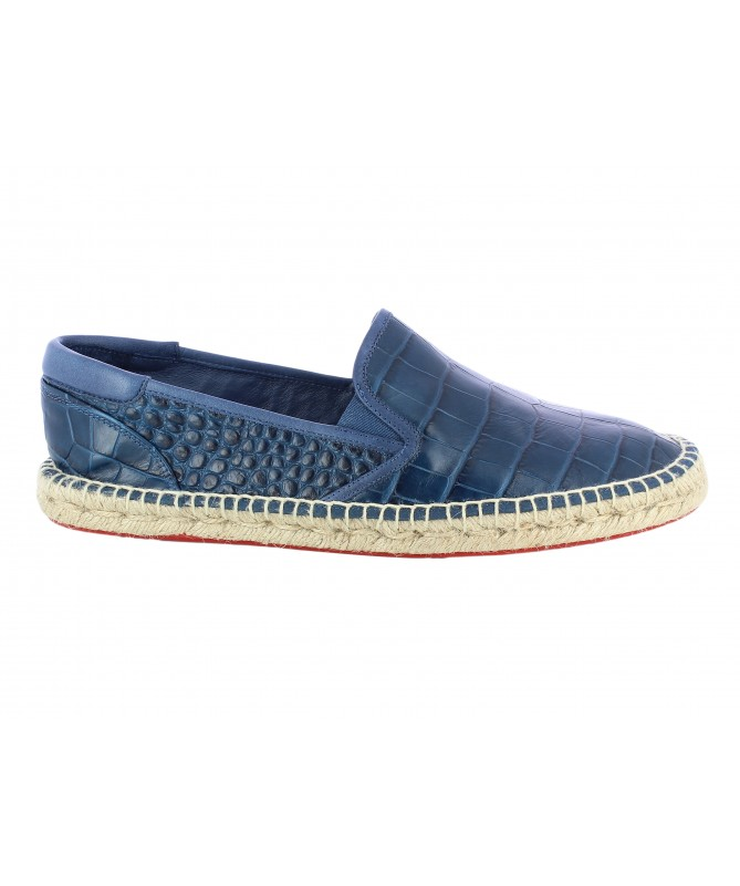 Slippers Homme Croco Navy
