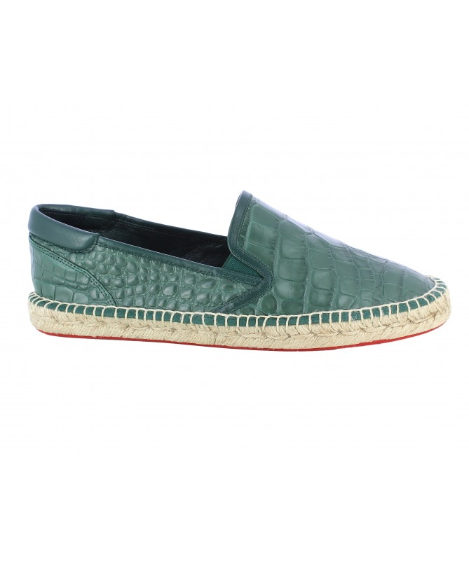 Slippers men Croco green
